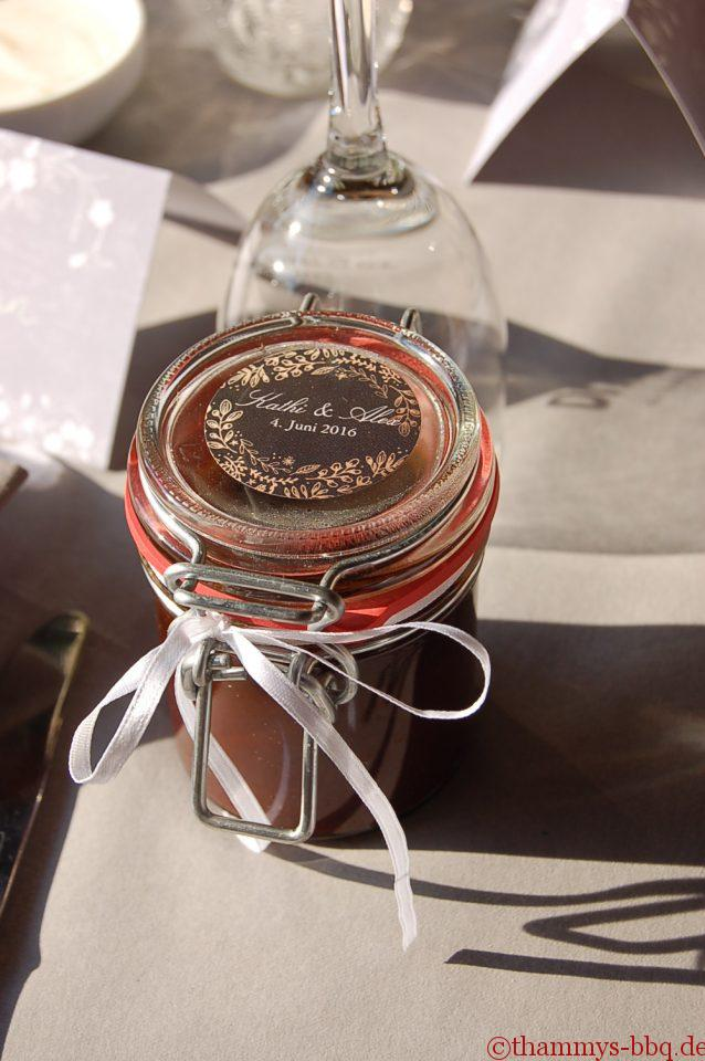 Unsere BBQ-Sauce als give-away