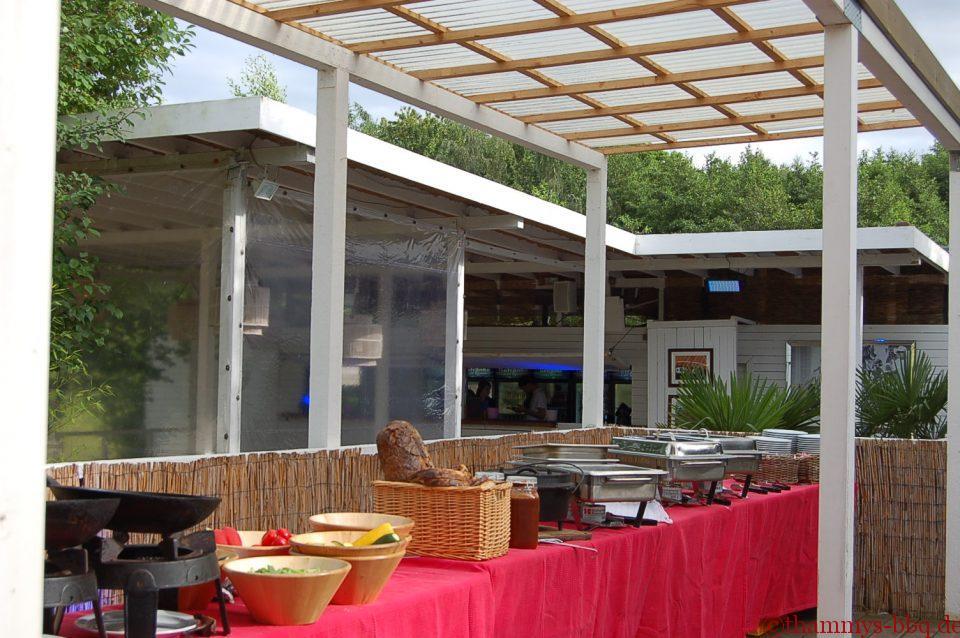 BBQ-Buffet am Sundown Beach