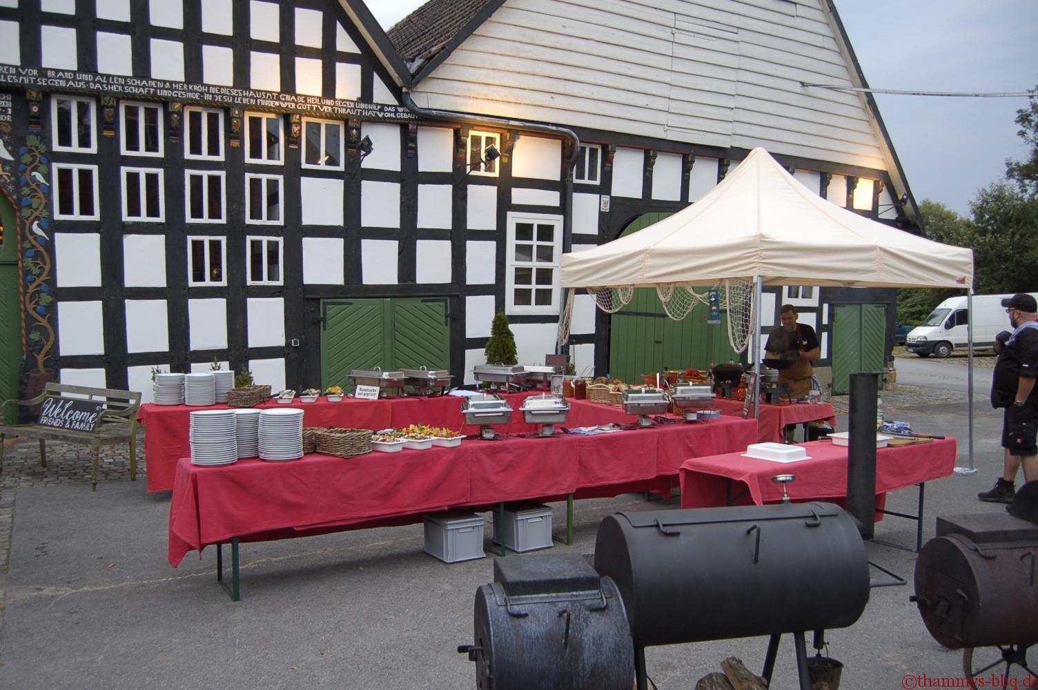 BBQ-Buffet auf dem Uphof
