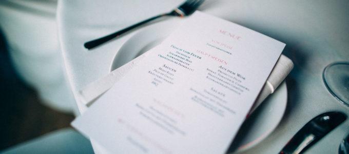 Eine unserer Speisekarten fotografiert von Jonas Müller